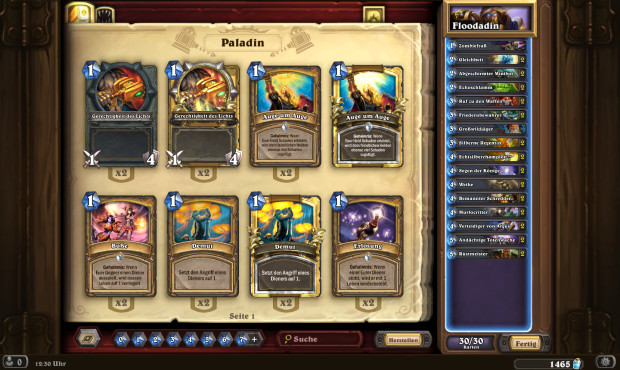 Hearthstone Top-Decks: Flood-Paladin © Blizzard