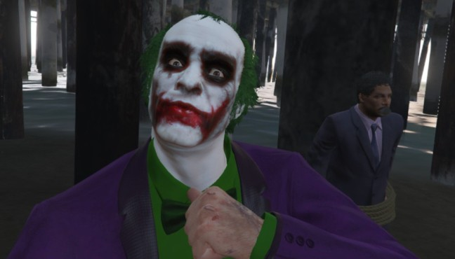 GTA 5: Joker Mod for Trevor © gta5-mods.com by -Thund3r-