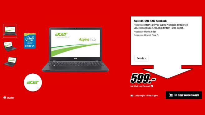 Acer Aspire E5-571G-52T3 ©Saturn