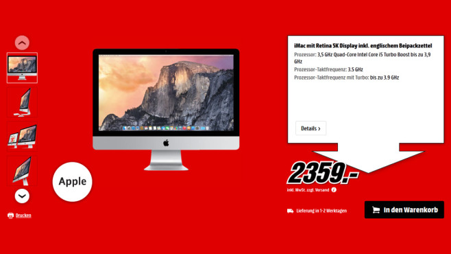 "Apple iMac 27"" mit Retina 5K Display © Saturn"