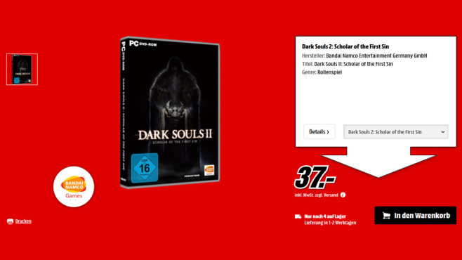 Dark Souls 2: Scholar of the First Sin (PC) © Saturn