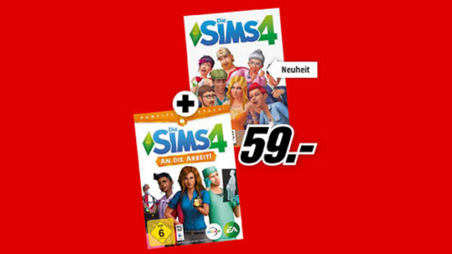 Die Sims 4 + Die Sims 4 – An die Arbeit (Add-on) (PC) © Saturn