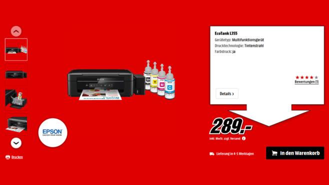 Epson Ecotank L355 + Gutschein ©Saturn