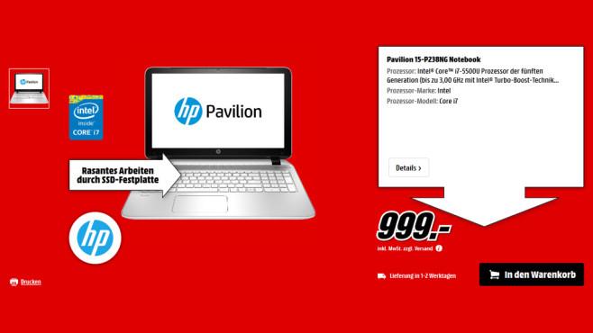 HP Pavilion 15-P238NG ©Saturn