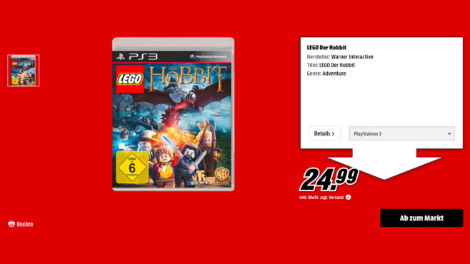 Lego Der Hobbit (PS3) © Saturn