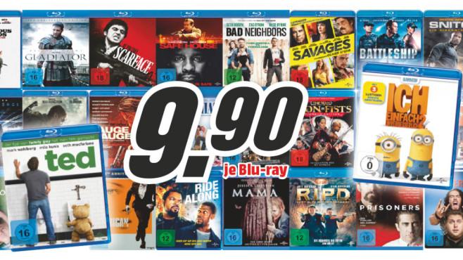 Verschiedene DVDs und Blu-rays ©Saturn
