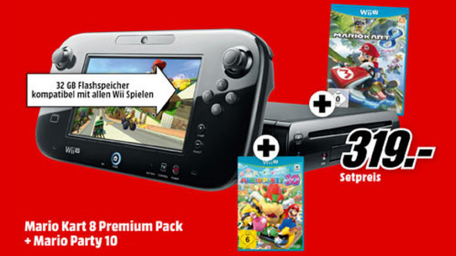 Wii U Mario Kart 8 Premium Pack + Mario Party 10 © Saturn