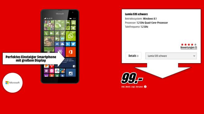 Microsoft Lumia 535 ©Media Markt