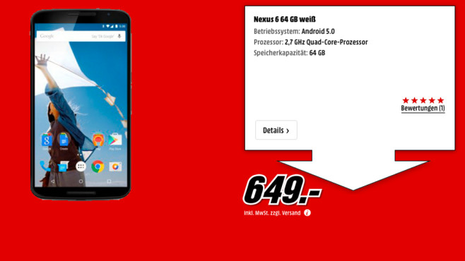 Motorola Nexus 6 64GB © Media Markt