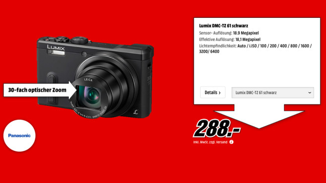 Panasonic Lumix DMC-TZ61 ©Media Markt