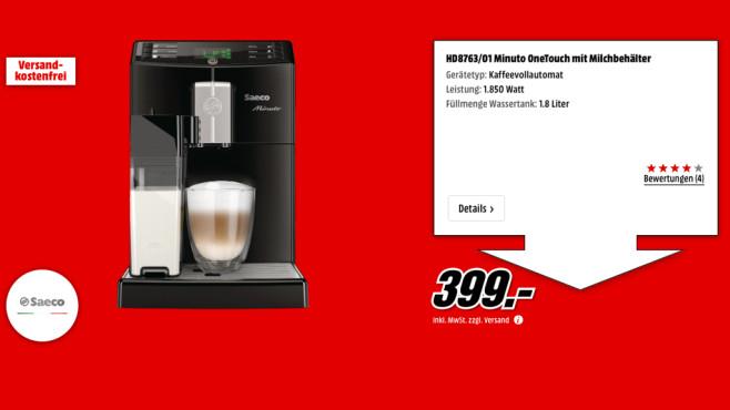 Philips Saeco Minuto One Touch ©Media Markt