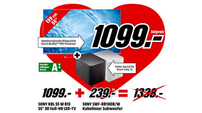 Sony KDL-55W815B + Sony SWF-BR100 ©Media Markt