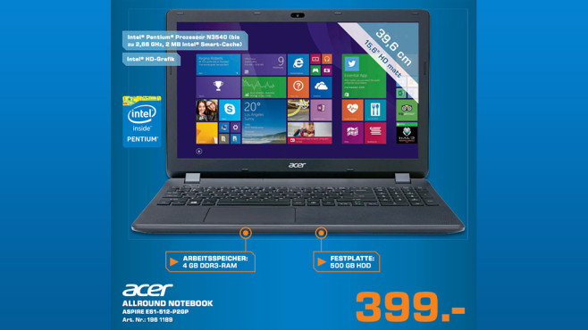 Acer Aspire ES1-512-P2GP ©Saturn