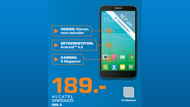 Alcatel One Touch Idol 2 © Saturn