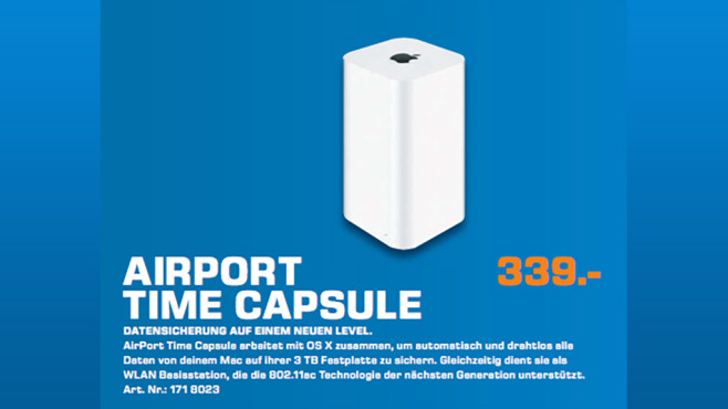 Apple AirPort Time Capsule 3TB ©Saturn