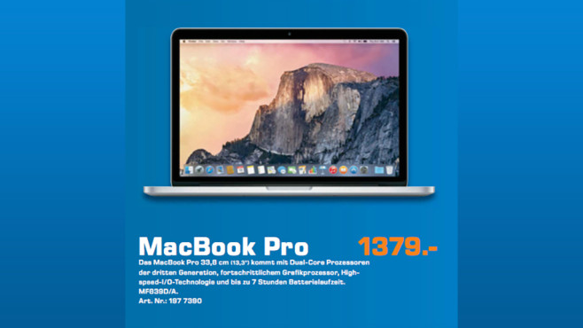"Apple MacBook Pro 13"" Retina 2015 (MF839D/A) © Saturn"