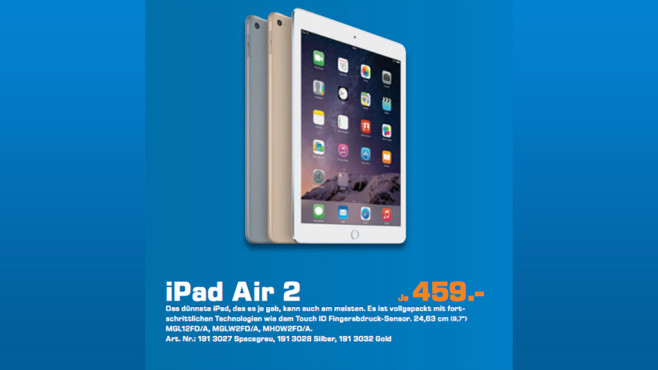 Apple iPad Air 2 © Saturn