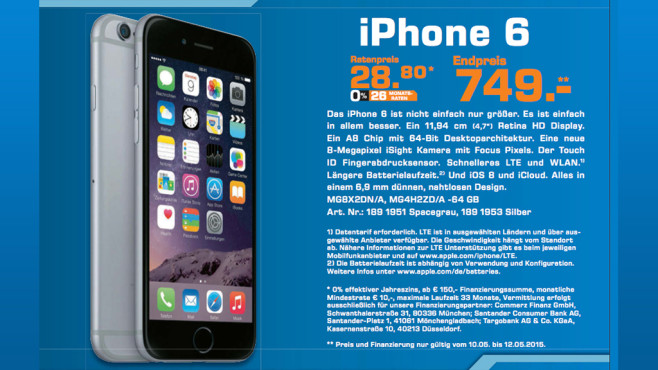 Apple iPhone 6 ©Saturn