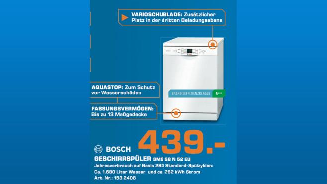 Bosch SMS58N52EU ©Saturn