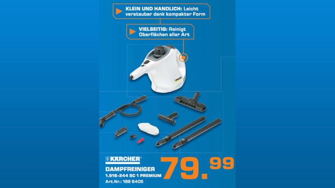 Kärcher SC 1 Premium + Floor Kit ©Saturn