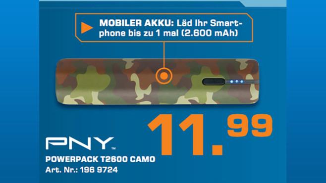 PNY PowerPack T2600 (2600mAh) ©Saturn