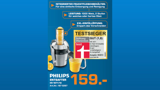 Philips HR1871/70 © Saturn