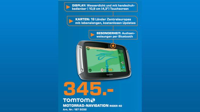 TomTom Rider 40 ©Saturn