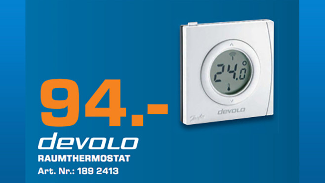 devolo Home Control Raumthermostat © Saturn