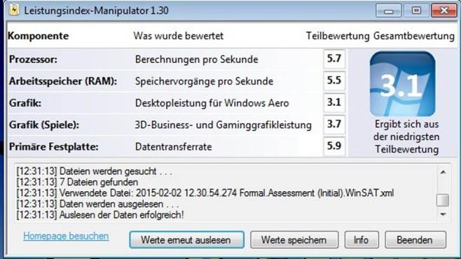 Leistungsindex-Manipulator: Angeben mit hohen Tempowerten ©COMPUTER BILD