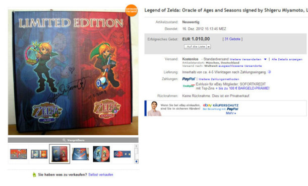 The Legend of Zelda © eBay