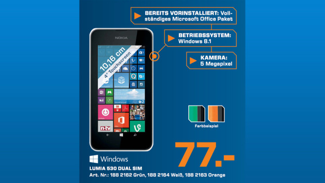Nokia Lumia 530 Dual SIM ©Saturn