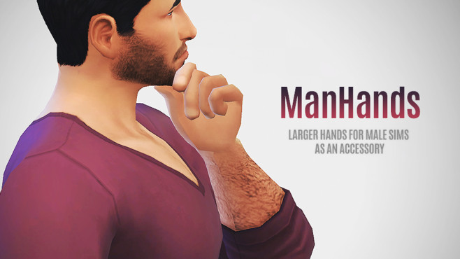 Mod: Manhands © EA, LumiaLoverSims