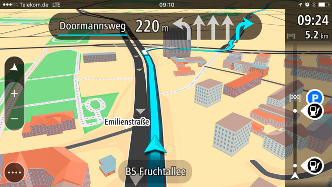Offline Navigation iPhone Android Windows Phone © TomTom