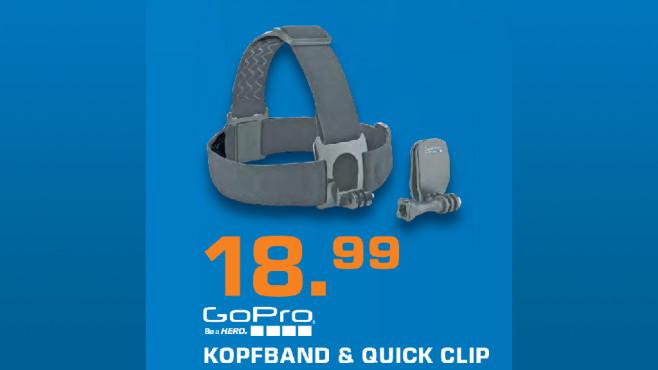 GoPro Kopfband + QuickClip ©Saturn