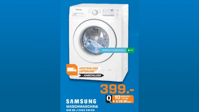 Samsung WW80J3483KW/EG ©Saturn