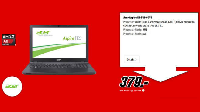 Acer Aspire E5-521G-60Y6 (NX.MLFEG.003) ©Media Markt