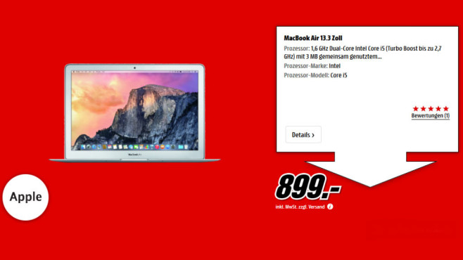 "Apple MacBook Air 13"" 2015 (MJVE2D/A) © Media Markt"
