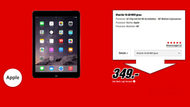 Apple iPad Air 16GB WiFi © Media Markt