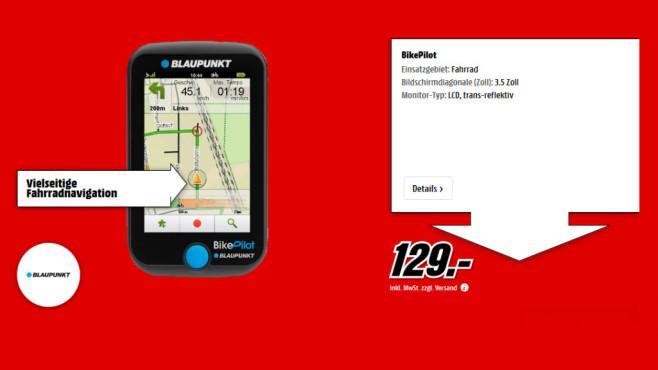 Blaupunkt BikePilot ©Media Markt