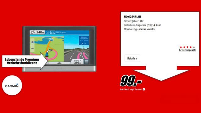 Garmin nüvi 2447 LMT CE ©Media Markt