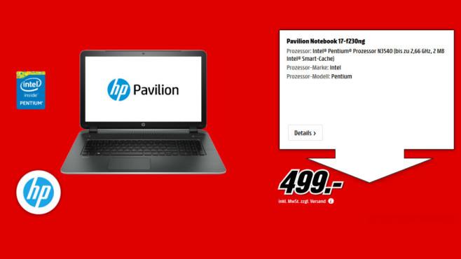 HP Pavilion 17-f230ng ©Media Markt