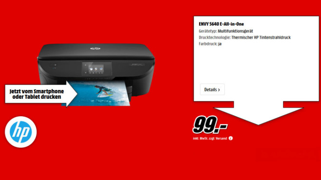 Hewlett-Packard HP ENVY 5640 e-All-in-One (B9S59A) © Media Markt