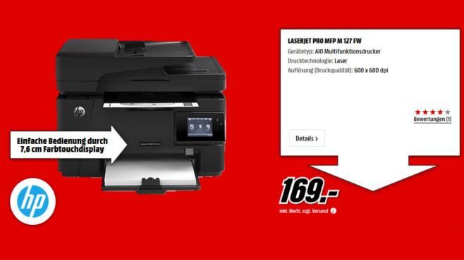 Hewlett-Packard HP LaserJet Pro MFP M127fw (CZ183A) ©Media Markt