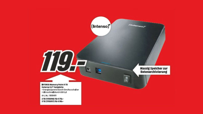 Intenso Memory Point 4TB © Media Markt