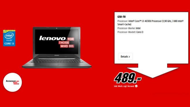 Lenovo G50-70 ©Media Markt