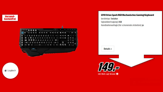 Logitech G910 Orion Spark DE © Media Markt