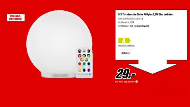 Müller Licht LED-Tischlampe 5.5 W RGB ©Media Markt