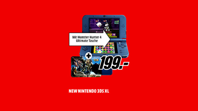 Nintendo New 3DS XL metallic blau © Media Markt