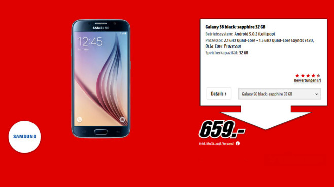 Samsung Galaxy S6 16 GB © Media Markt