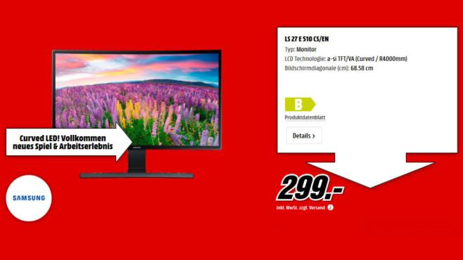 Samsung S27E510C ©Media Markt